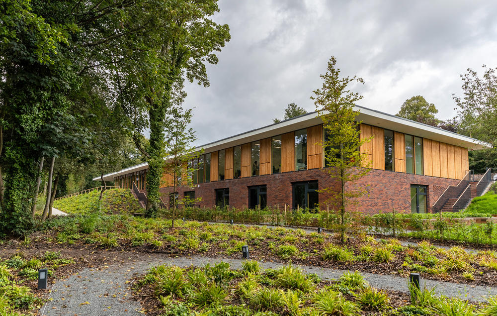 The new visitor centre at Strawberry Field